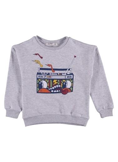 Morhipo Kids Sweatshirt Baskılı O Yaka Gri